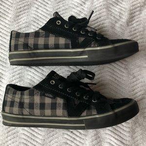 Vans Shoes - Black & Gray Plaid Vans